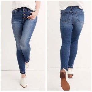 "Madewell 10"" High Rise Skinny Drop Hem Jeans"